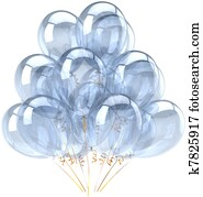 White blank party balloons classic