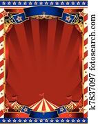 american old striped circus