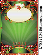 Baroque casino background