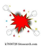 Explosion icon comic style