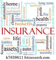 Insurance Word Concept Illustration