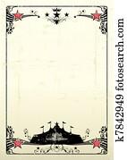 grungy circus poster