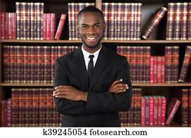 Male Lawyer In Office