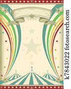 rainbow circus vintage poster