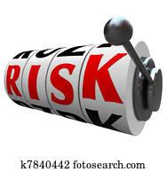 Risk Word Slot Machine Wheels - Gambling Odds Chance