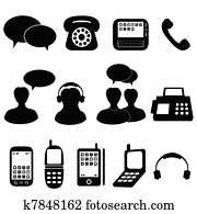 Telephone and communication icons