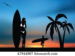 Tropical surfing paradise