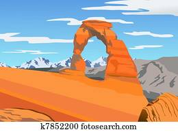 Illustration of Arches park