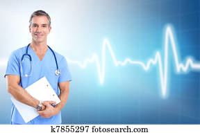 Medical doctor cardiologist. Health care.