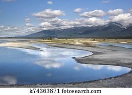 Kicking Horse reservoir in weatern montana.