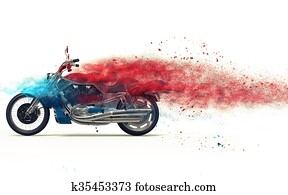 Red bike - particle dispersion