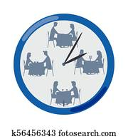 Speed dating clipart