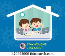 stay home stay safe for children