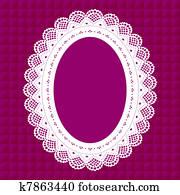 Vintage Lace Doily Frame