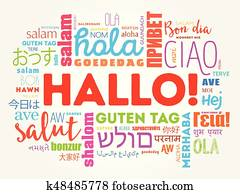 Japanese greeting words clip art eps images 627 japanese greeting hallo hello greeting in german word cloud m4hsunfo
