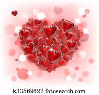 valentines tag, herz