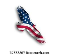 American eagle flag flying