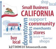 einzelfachhandel, california,, fahne