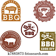 Vintage Style BBQ Stamps