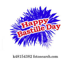 Happy Bastille Day Graphic Logo