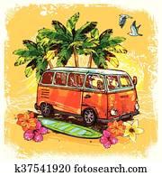 Surf Bus Sketch Concept