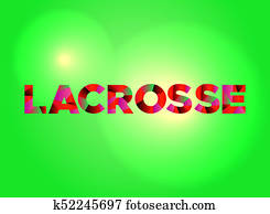 Lacrosse Concept Colorful Word Art Illustration