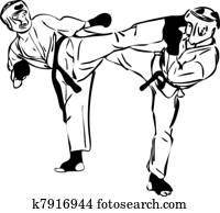 22 Karate Kyokushinkai sketch martial arts and combative sports(3).jpg