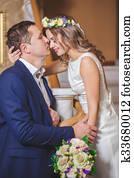 bride groom hotel kiss