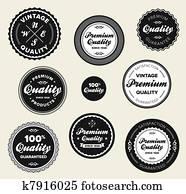 Vintage premium quality badges