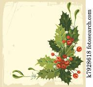 altmodisch, weihnachtskarte
