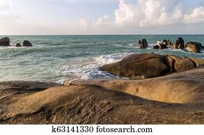 Grande pene spiaggia