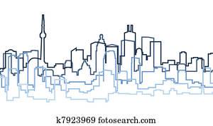 Toronto Skyline Silhouette