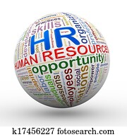 3d HR human resources wordcloud tags ball