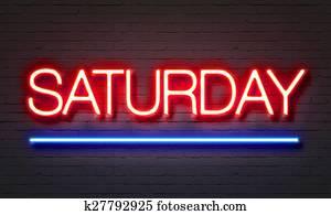 Saturday neon sign