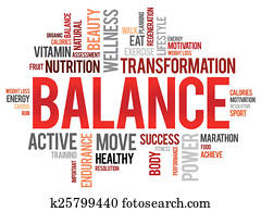BALANCE word cloud