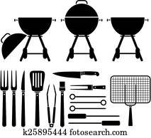 barbecue equipment - pictogram