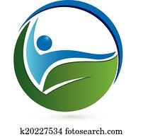 Healthy concept logo