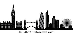 london skyline with text city