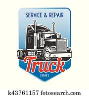 Transportation Truck Logo Vector Design.