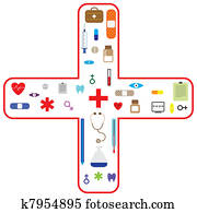 Medical vectoricon set for health care industry