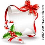 weihnachten, glueckwunschkarten, mit, karamell, krückstock