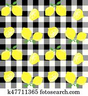 seamless lemon background