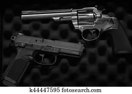 Two Pistols Handguns for Self Defense or Military