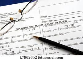 Workmen compensation claim form