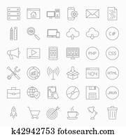 kodierung, linie, heiligenbilder, satz