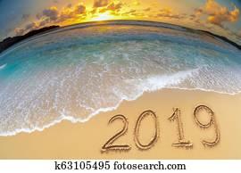 new year 2019 beach celebrate