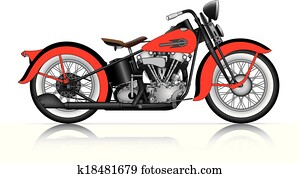 red classic motorcycle.