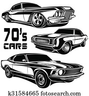Cars muscle 70s