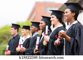 group of university graduates