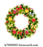 realistic christmas wreath